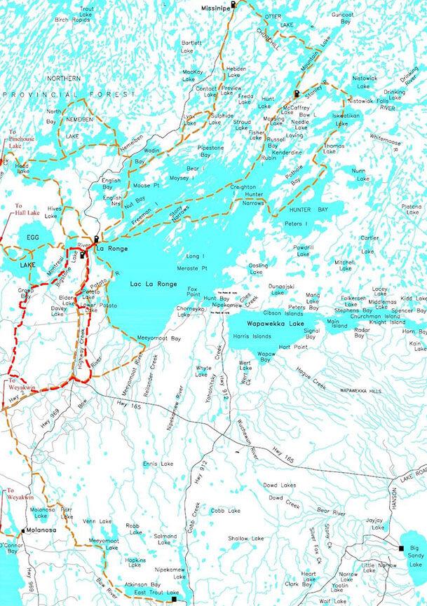 Lac La Ronge Snowmobiling Map