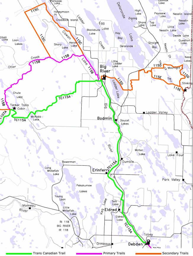 Big River Snowmobiling Map