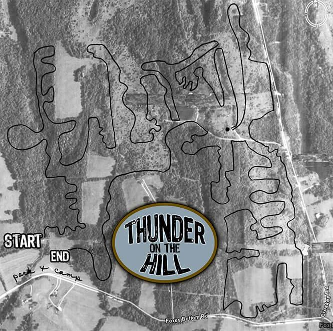 Thunder On The Hill Dirt Biking Map