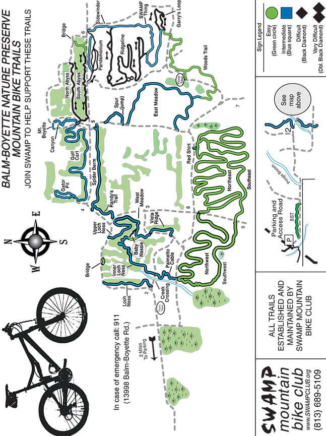 Balm Boyette Scrub Preserve Mountain Biking Map