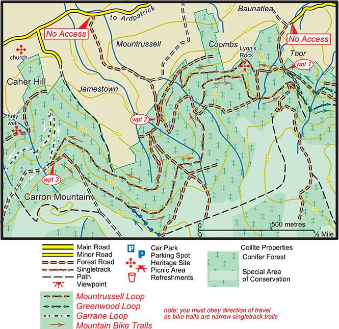 Mountrussell Loop Mountain Biking Map