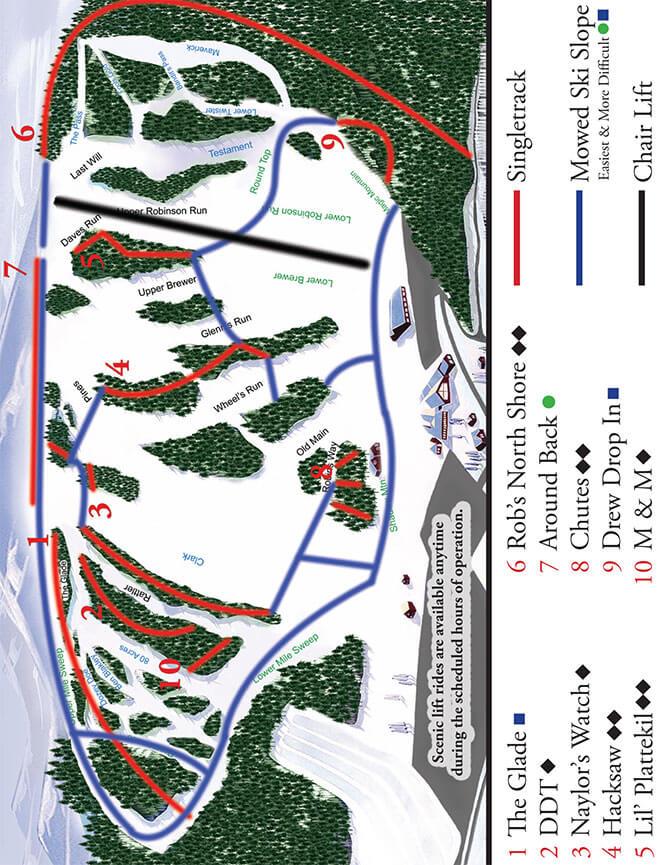 Swain Resort Mountain Biking Map