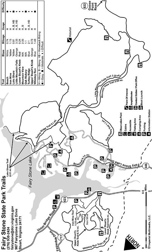 Fairy Stone State Park Horseback Riding Map
