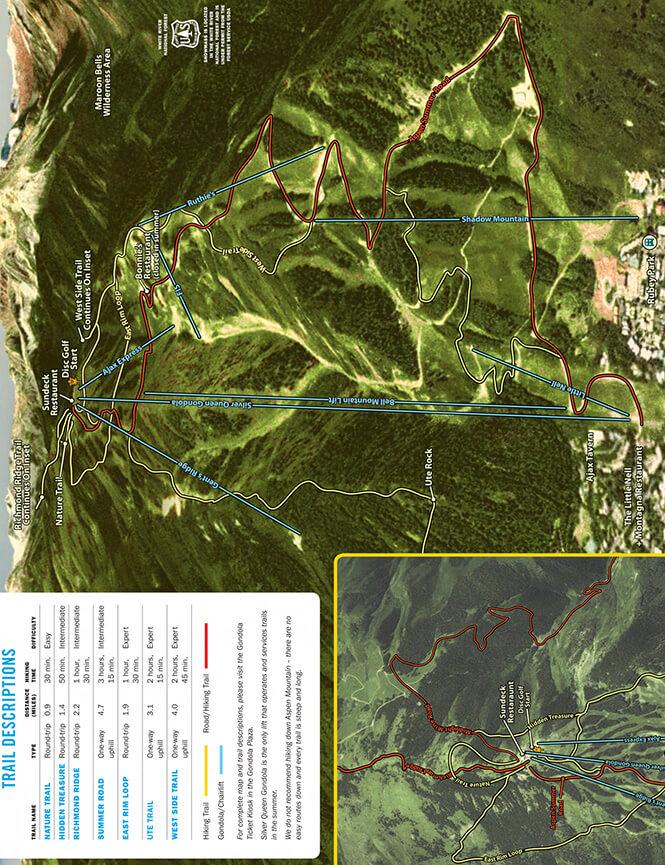 Aspen Mountain Mountain Biking Map