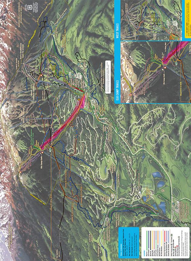 Snowmass Mountain Mountain Biking Map