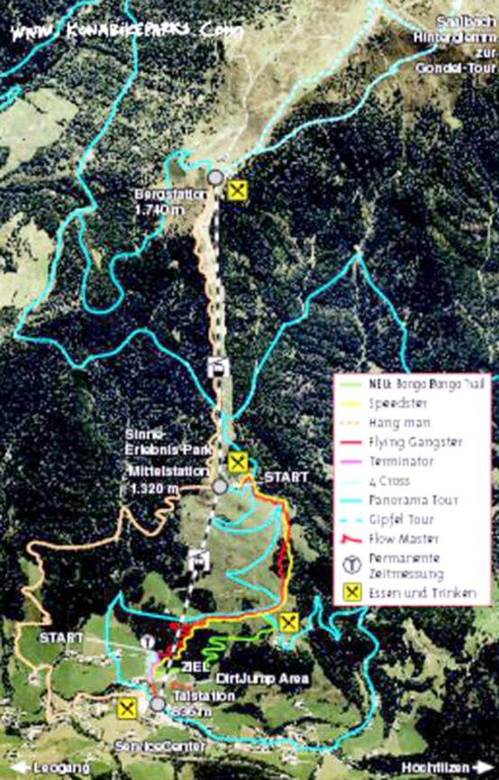 Leogang Mountain Biking Map