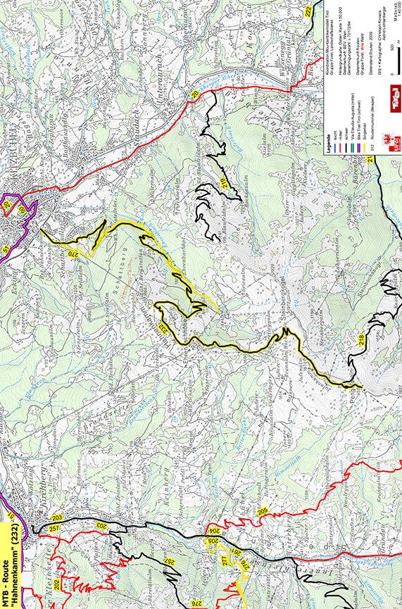 Hahnenkamm Bike Safari Mountain Biking Map