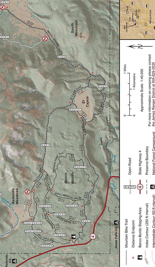 Banco Bonito Mountain Bike Trails Mountain Biking Map