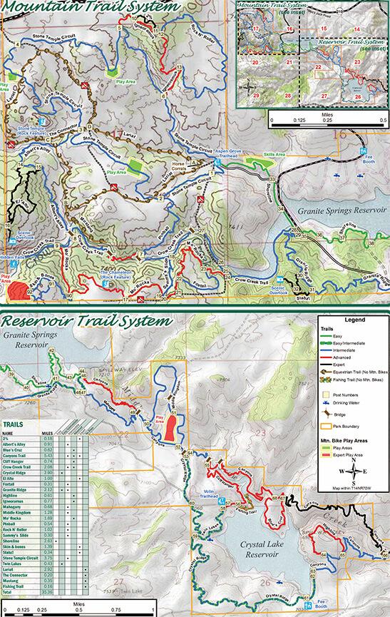 Curt Gowdy State Park Mountain Biking Map