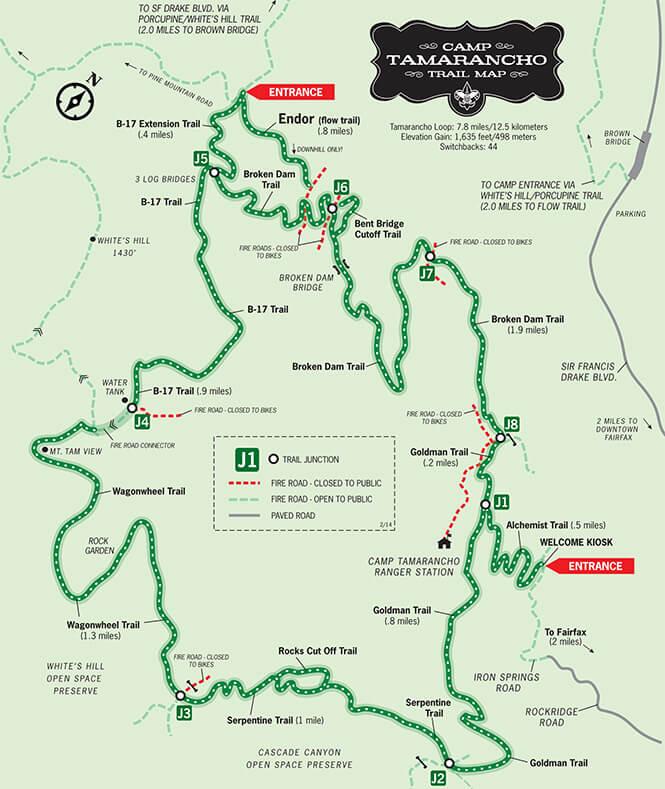 Tamarancho Mountain Biking Map