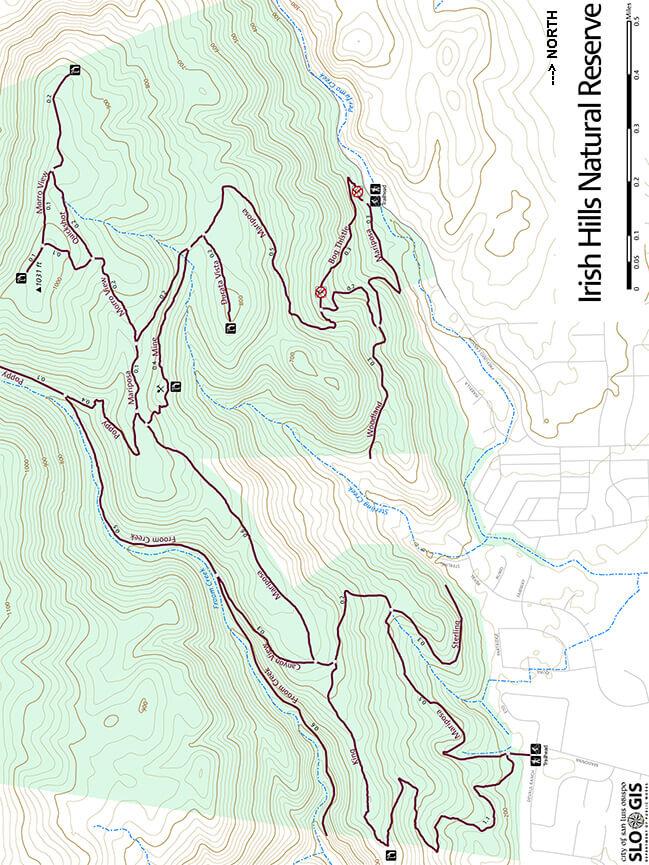 Irish Hills Natural Reserve Mountain Biking Map