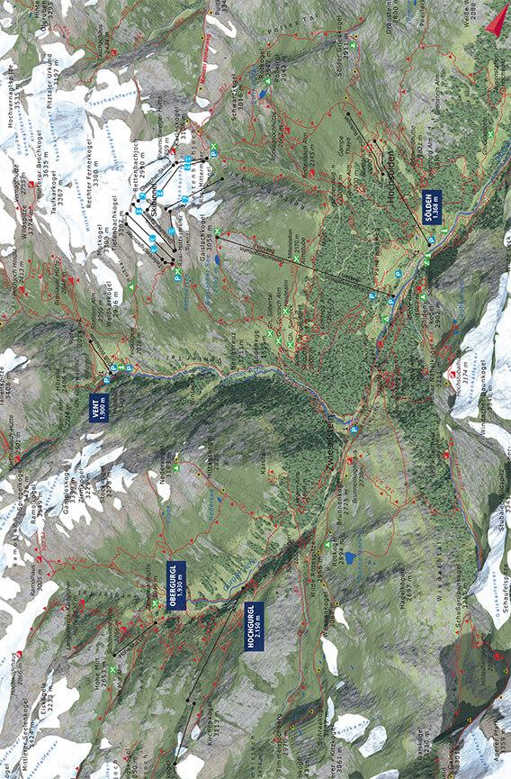 Otztal Valley Mountain Biking Map