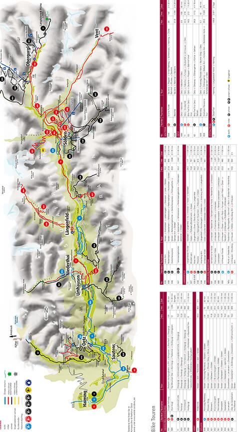 Otztal Mountain Bike Trail Mountain Biking Map