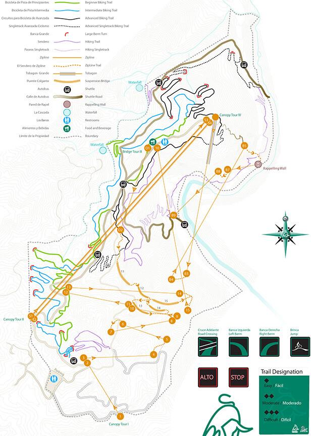 Toro Verde Nature Park Mountain Biking Map