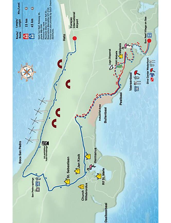 Boca St Michiel - Malpais Mountain Biking Map