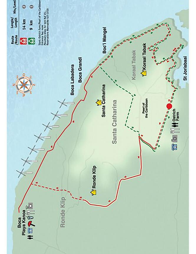 St Joris Baai - Koraal Tabak Mountain Biking Map