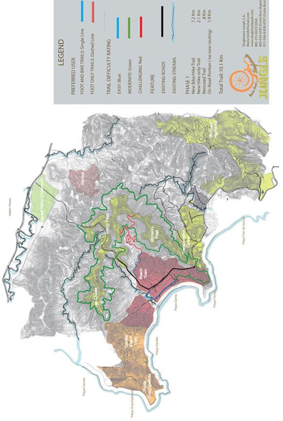 Las Catalinas Trail System Mountain Biking Map