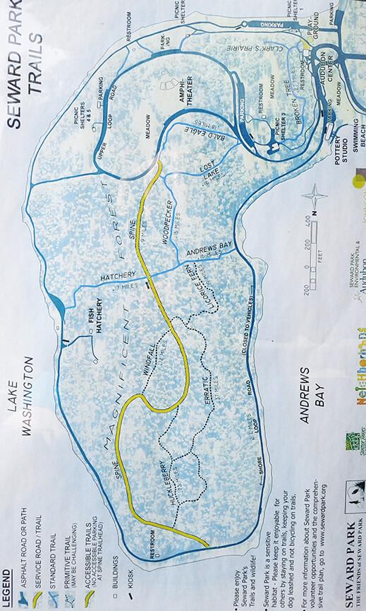 Seward Park Hiking Map