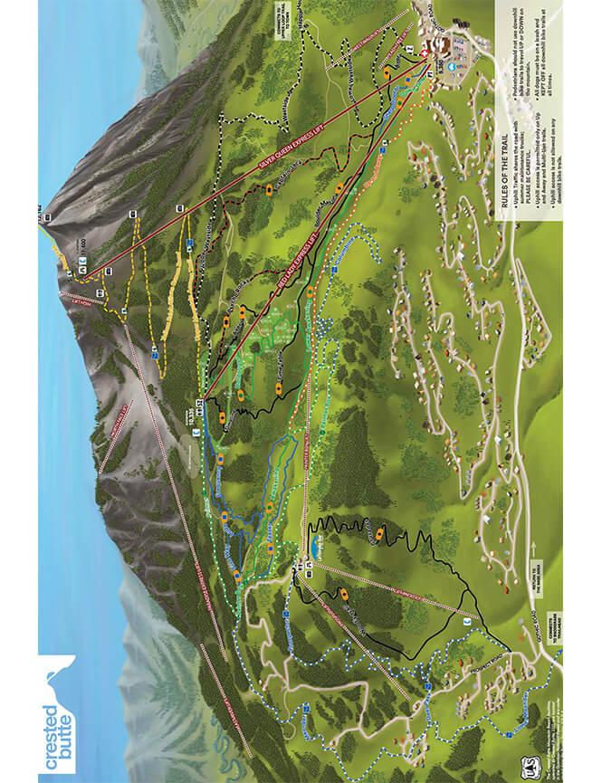 Evolution Bike Park Mountain Biking Map