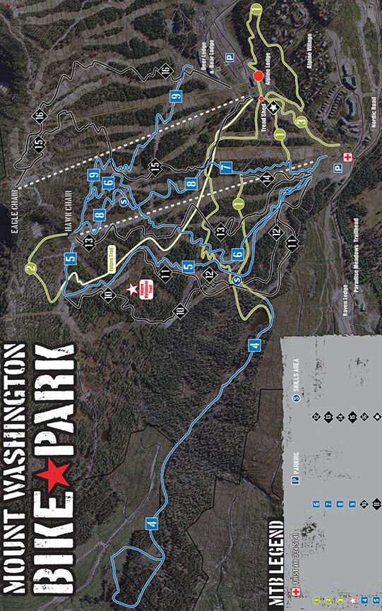 Mount Washington Bike Park Mountain Biking Map