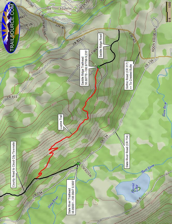 Lupine Trail Mountain Biking Map