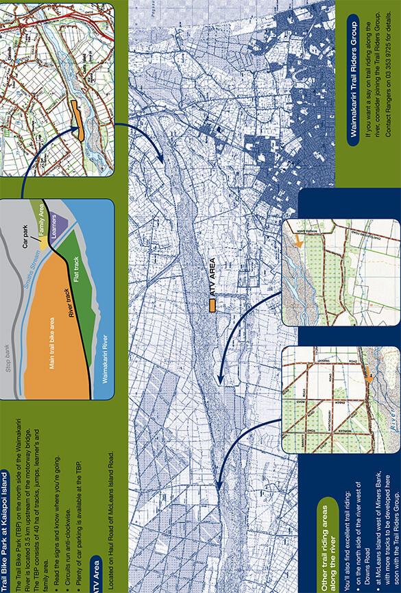 Waimakariri River Regional Park Dirt Biking Map