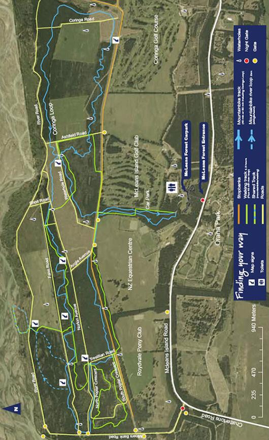 McLeans Island Mountain Biking Map
