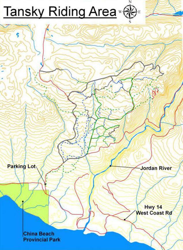 Tansky Riding Area Dirt Biking Map