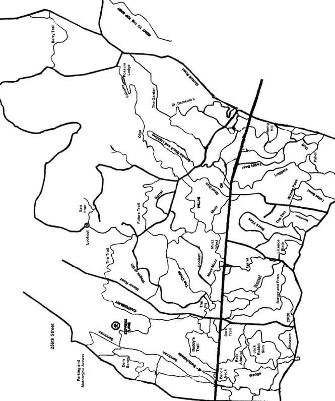 McNutt / Blue Mountain Riding Area Dirt Biking Map