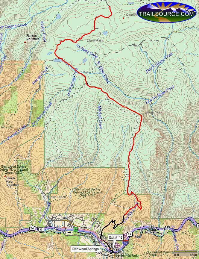 Transfer Trail Dirt Biking Map