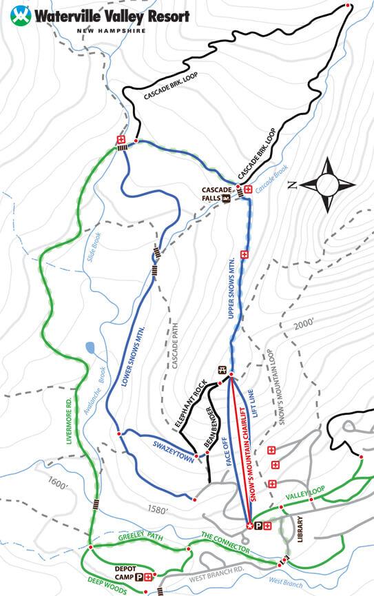 Waterville Valley Adventure Center Mountain Biking Map
