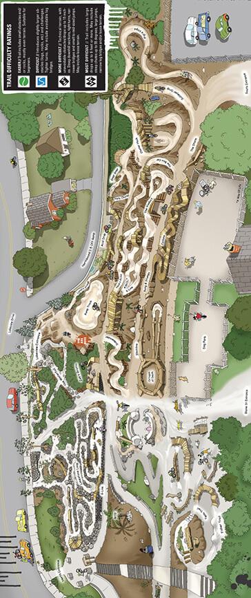 I-5 Colonnade Mountain Bike Skills Park Mountain Biking Map
