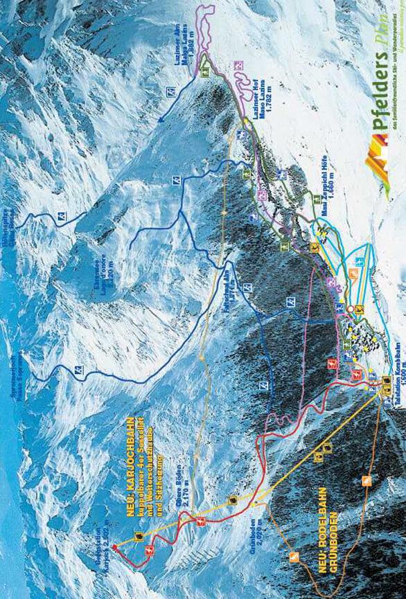 Pfelders Cross Country Skiing Map