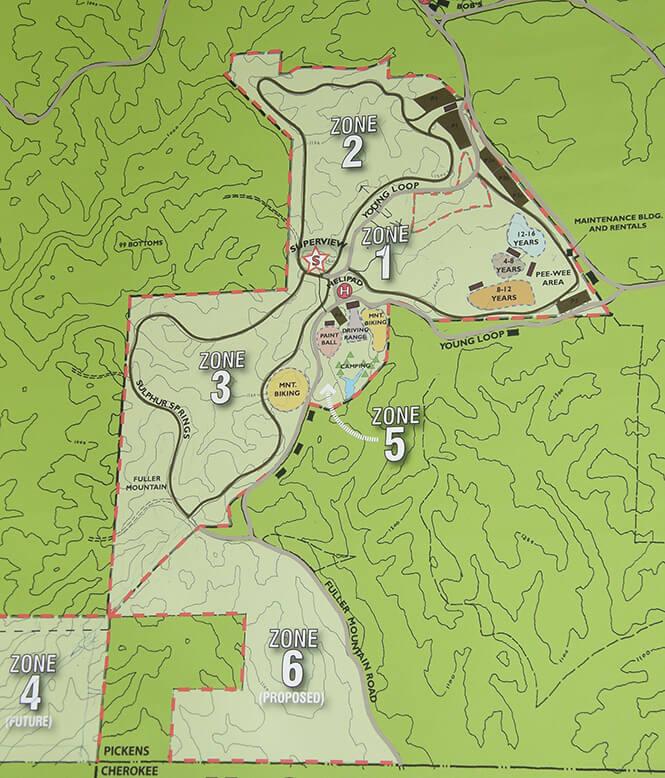 Moto Mountain ATV Park ATV Trails Map
