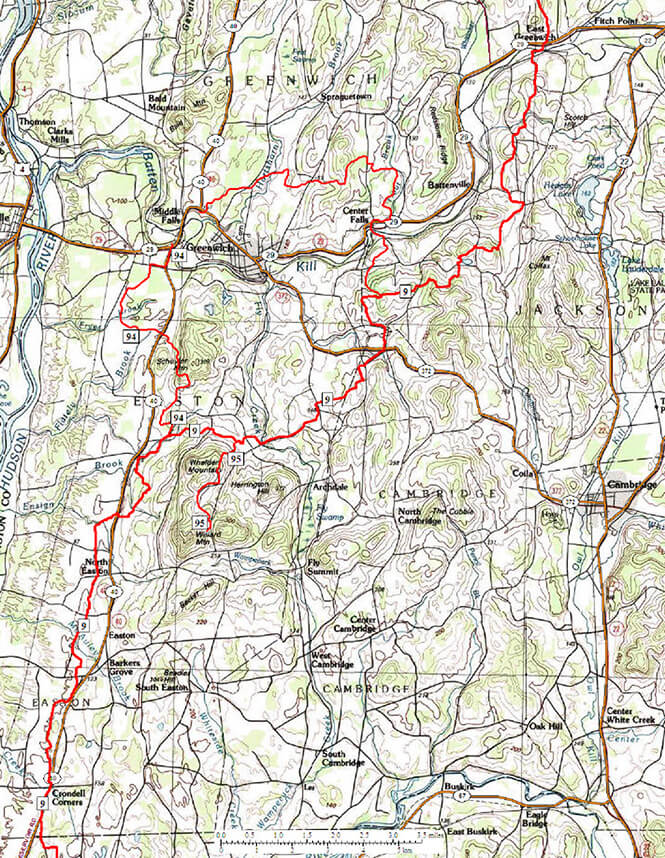 Greenwich Snowmobiling Map