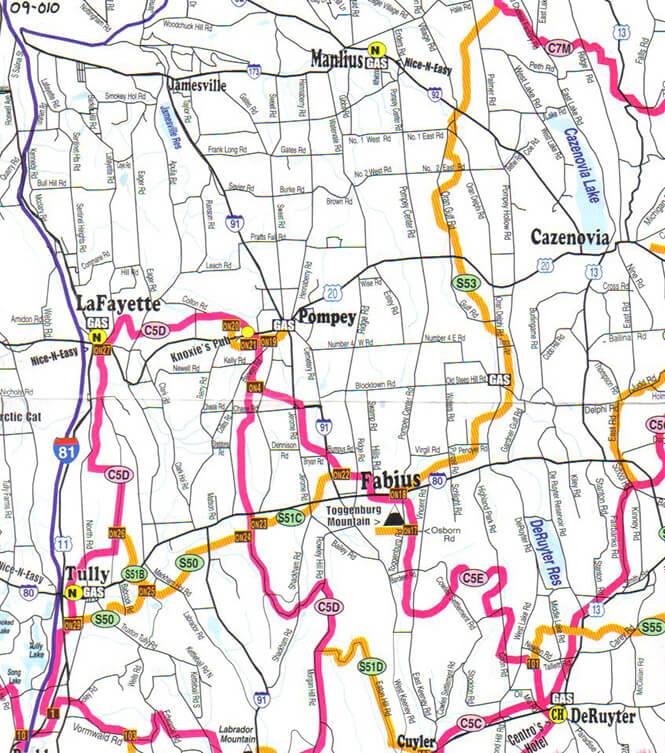 Lafayette Snowmobiling Map