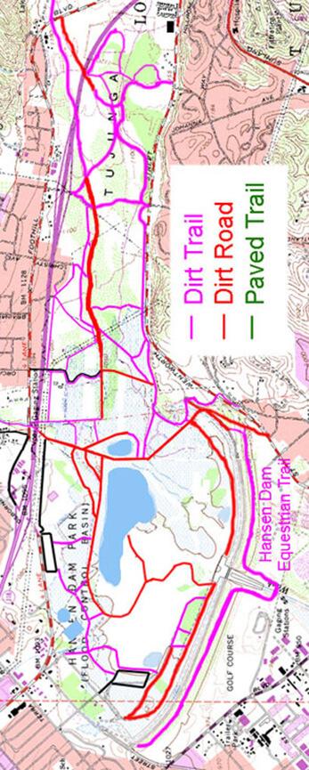 Hansen Dam Horseback Riding Map