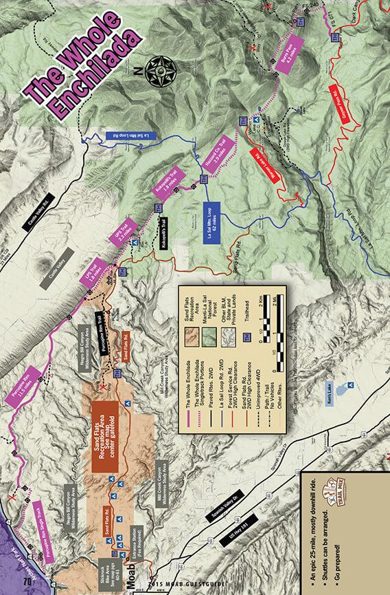 Whole Enchilada Mountain Biking Map