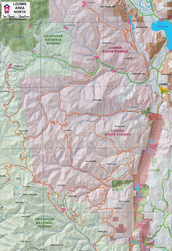 Loomis ATV Trails Map