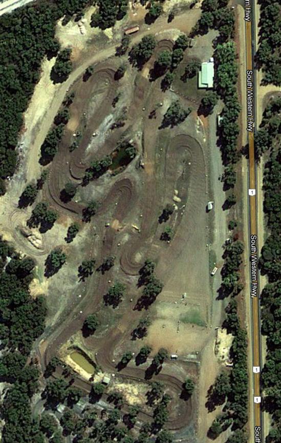 Shrubland Park Dirt Biking Map