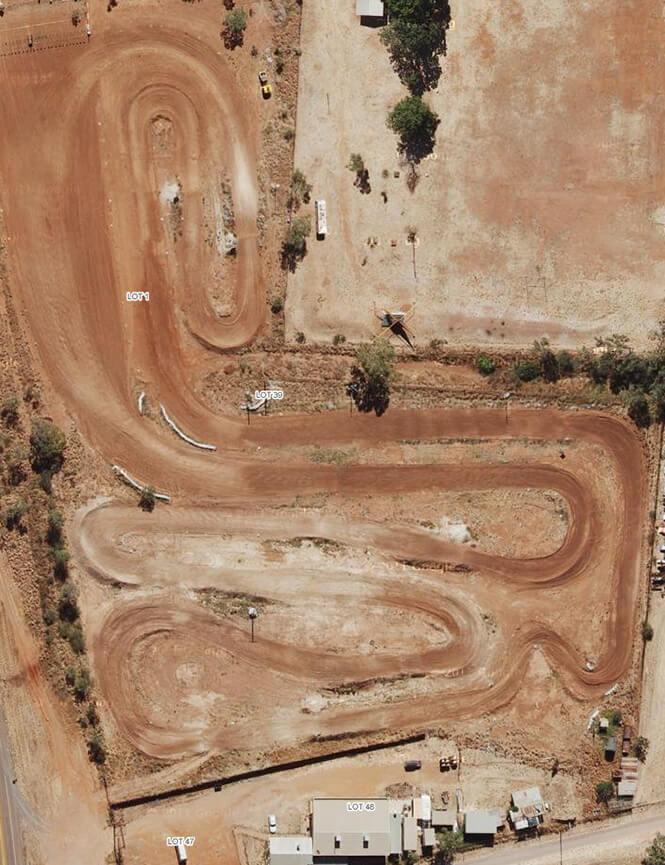 Jubilee Park Track Dirt Biking Map