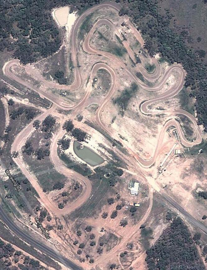 Benaraby Moto-X Raceway Dirt Biking Map