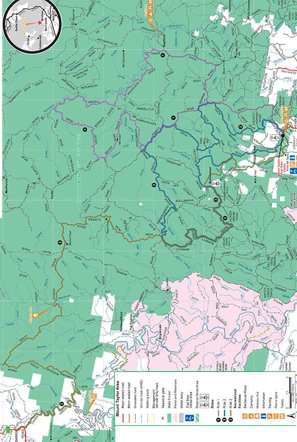 Mt Taylor Trail Bike Area Dirt Biking Map
