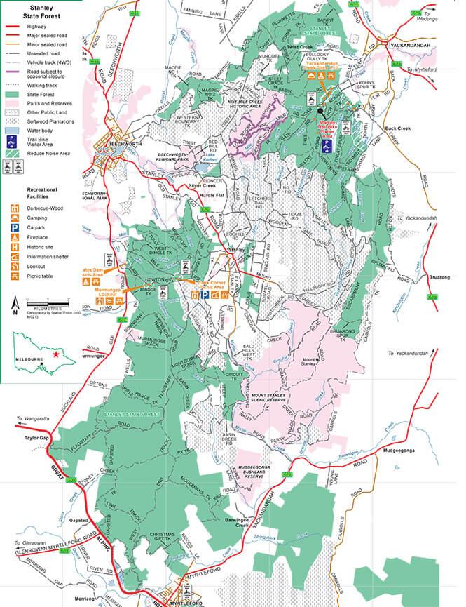 Stanley Trail Bike Area Dirt Biking Map