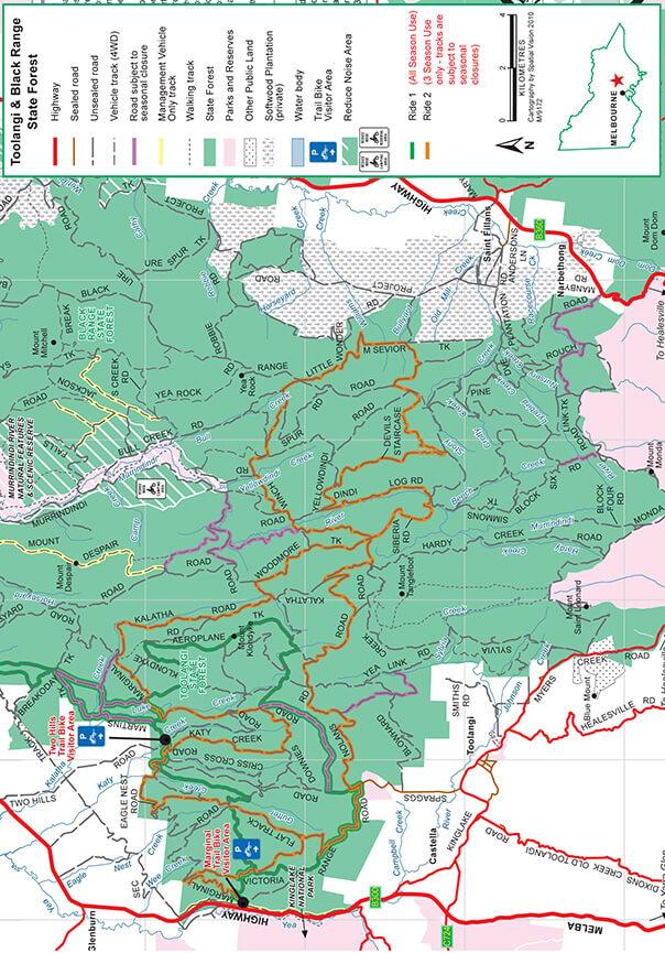 Marginal Road Trail Bike Area Dirt Biking Map