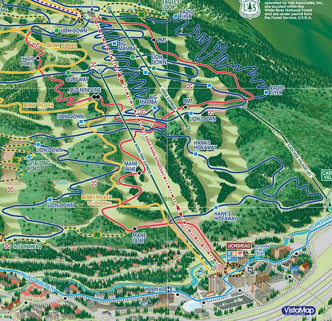 Big Mamba Trail Mountain Biking Map