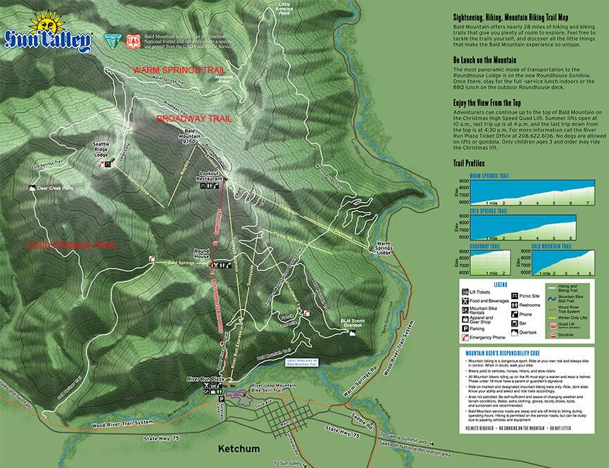 Bald Mountain Mountain Biking Map