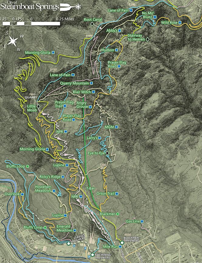Emerald Mountain Trail System Mountain Biking Map