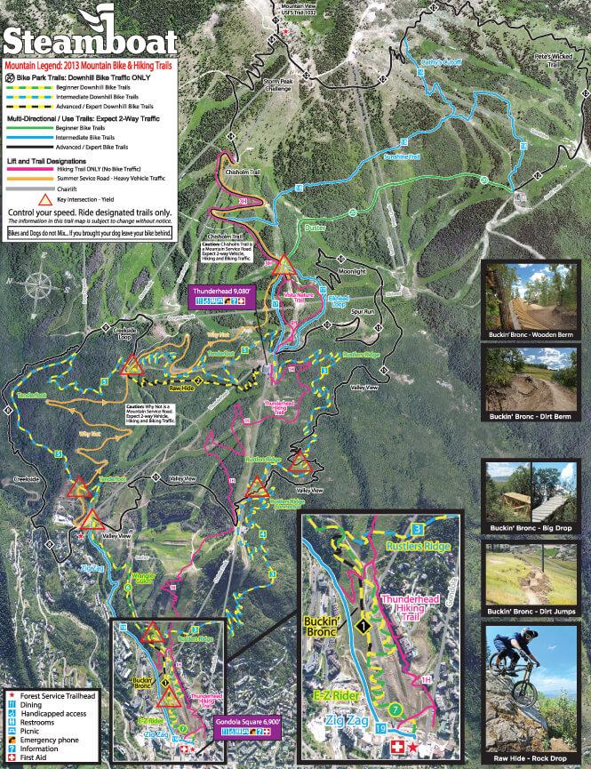 Mt Werner Mountain Biking Map