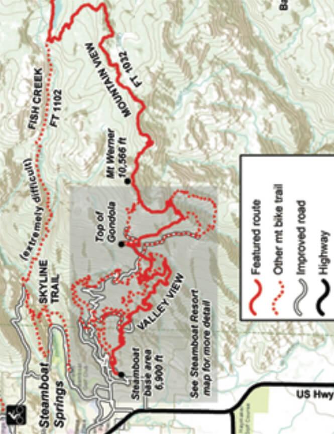 Mountain View Trail Mountain Biking Map